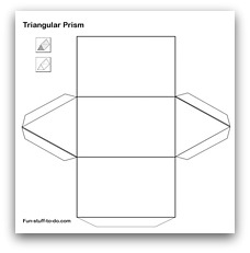 Clean image inside triangular prism net printable