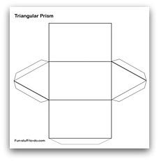 graphic regarding Triangular Prism Net Printable named Printable Styles