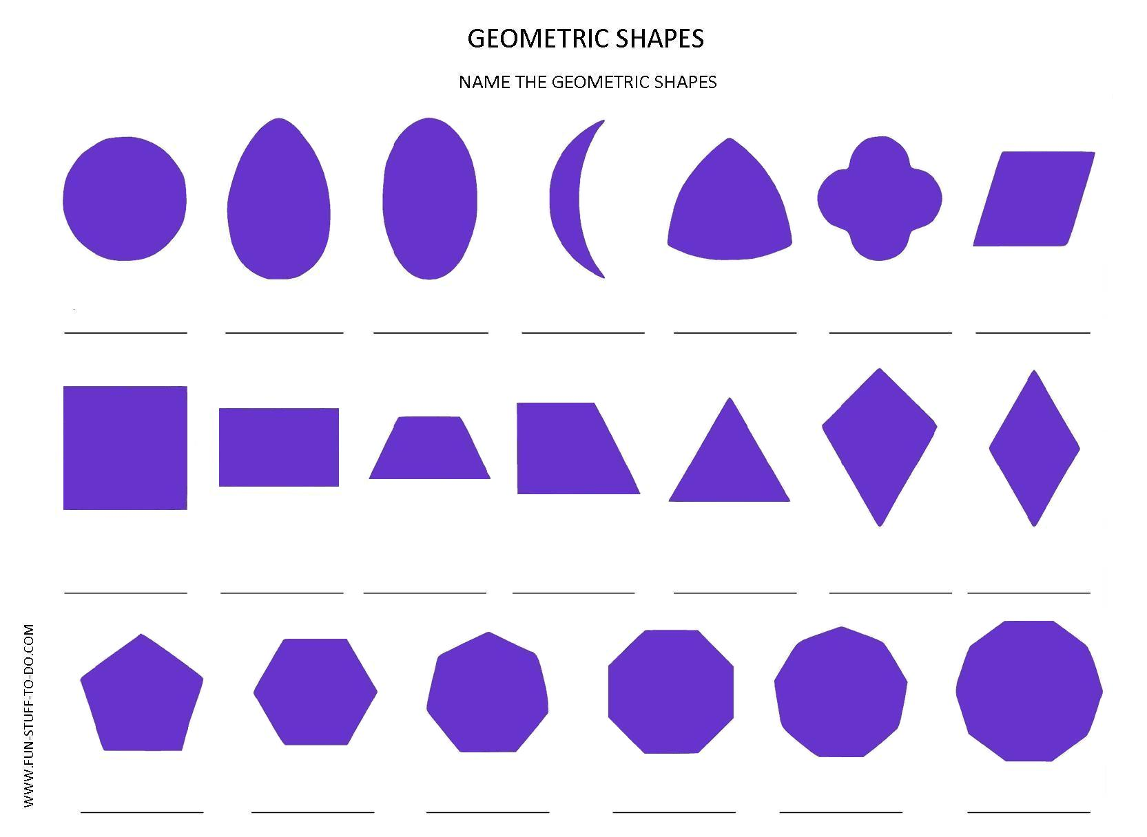 Worksheet Shapes Geometry geometric shapes worksheets free to print print