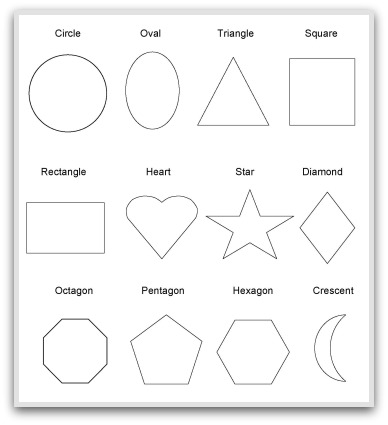 Geeky image intended for printable shapes to cut out