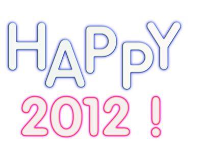 Happy 2012 Glow Words