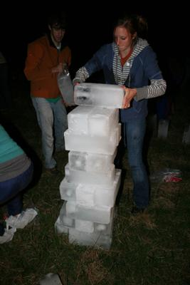 Ice blocks for ice blocking