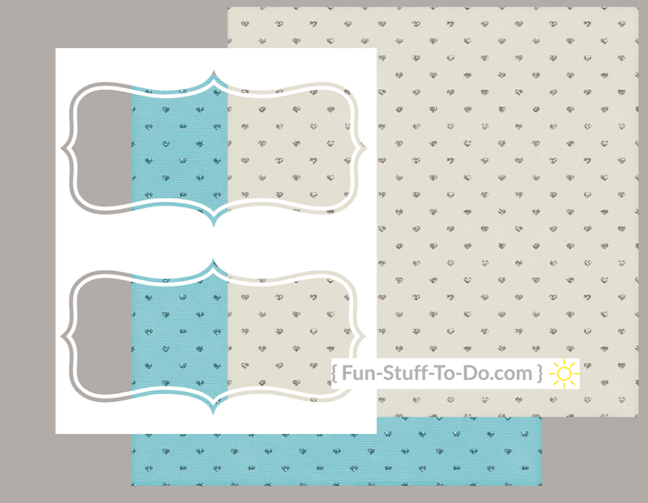 paper craft template - labels