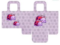 ladybug, party, bag, favor, purple, gift, cute, printable, free, assemble, pattern, template