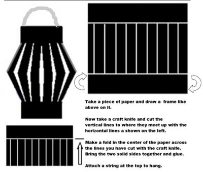 Chinese Paper Lantern Craft Template