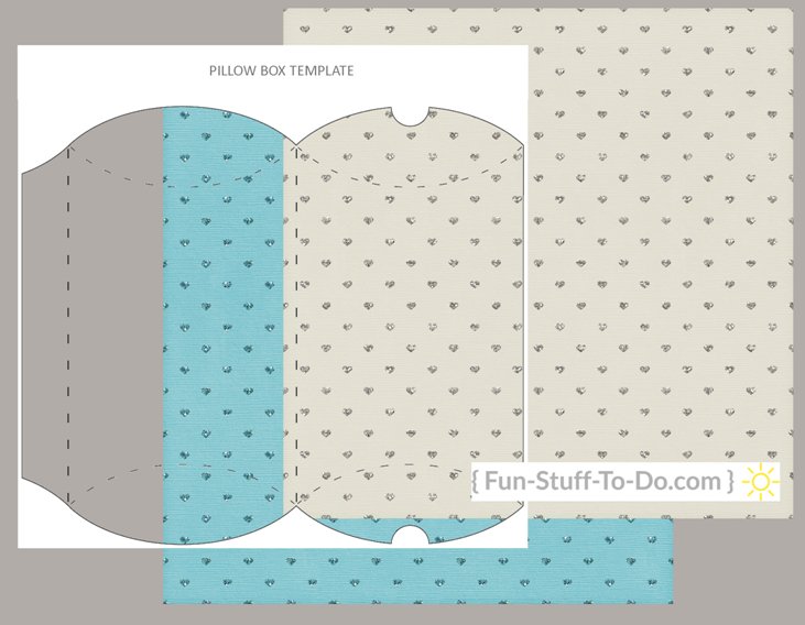 pillow box transparent craft overlay template png pdf