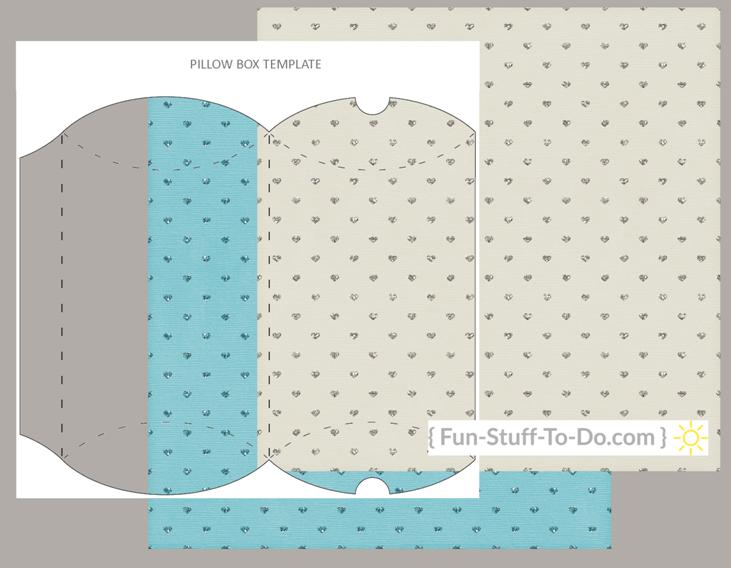 pillow box transparent craft overlay template png pdf