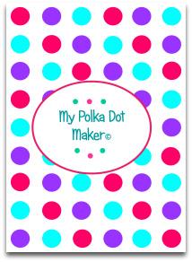 polka dots, candy, blue, purple, darkpink