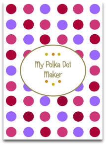 polka dots, trendy colors, modern crafts, templates, make paper