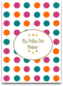 polka dots, templates, craft tools, craft ideas, modern colors
