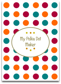 polka dot, modern, trendy colors, craft, templates