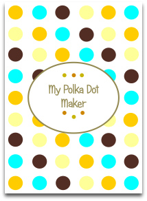 polka dots, modern dots, trendy colors, templates, great crafts