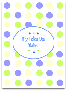 polka dots, pastel, cream, blue, green