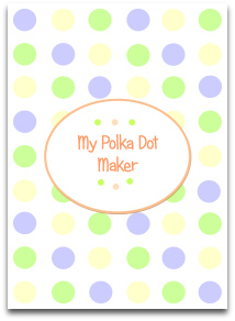 pastel, polka dots, green, blue, cream