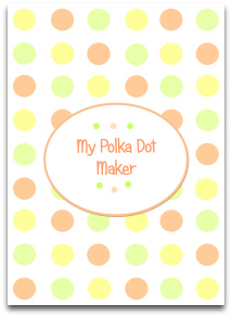 polka dots, pastel, orange, yellow, green