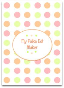 polka dots, pastel, green, peach, pink