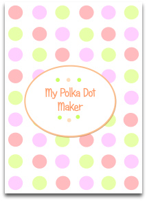 pastel, polka dots, pink, green