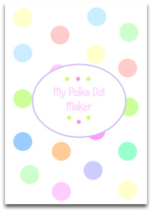 pastel, large polka dots, pastel palette, pink, blue, green, orange, yellow