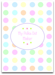 pastel, polka dots, various pastel colors, pink, green, blue, orange, yellow