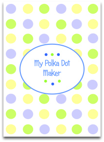 pastel, polka dots, yellow, green, blue