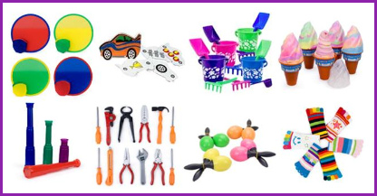 party games, party favors, pinata fillers, small toys