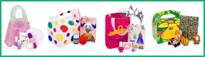 toy bags, party bags, party games, party favors