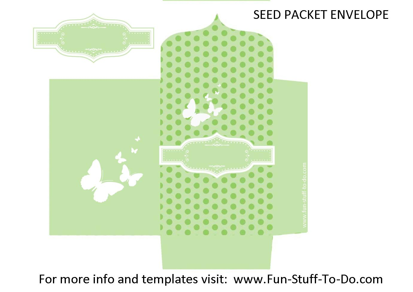 photo about Printable Seed Packets known as Seed Packet Envelope