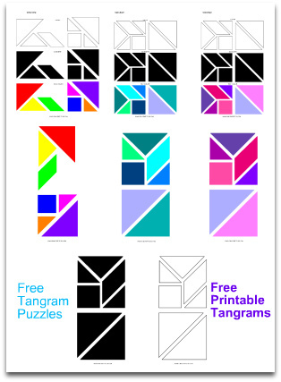tangram puzzles and solutions pdf