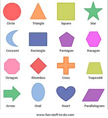 2D geometric shapes color
