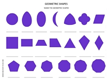 name the geometric shapes