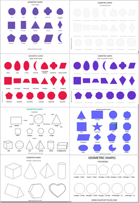 geometric shape worksheets
