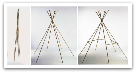 make a tipi, build a tipi, make a wigwam