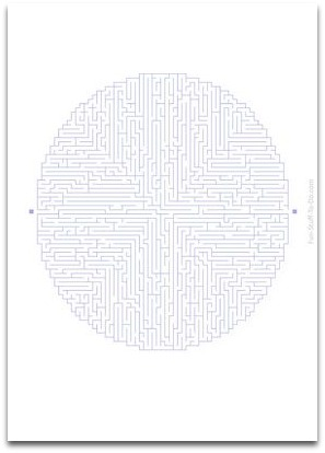 difficult oval maze