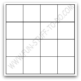 Travel bingo free printable bingo cards and games for Ipad grid template