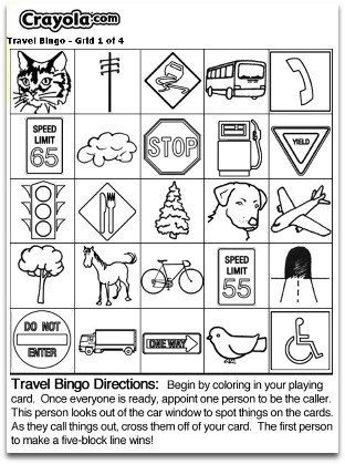 printable travel bingo cards