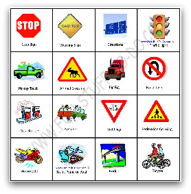 photo about Travel Bingo Printable referred to as Push Bingo - Totally free Printable Bingo Playing cards and Game titles