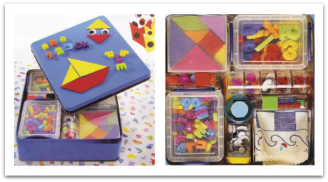 travel play tin box to make with felt creations and magnets