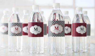 Printable water bottle label templates by customwater. Com [ free ].