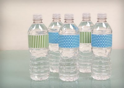 Wedding water bottle label, water bottle label printable.