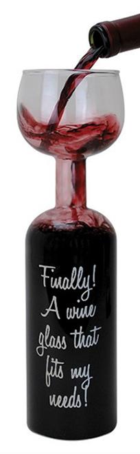 wineglass-bottle, fun drink, novelty gift,