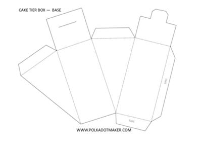 Three Tier Cake Slice Box Templates