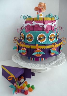 Three Tier Cake Made With Cake Slice Boxes