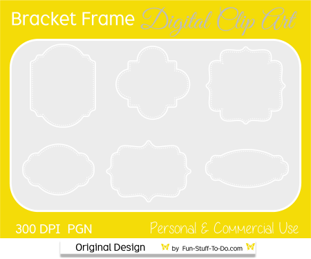 Bracket Frame Fancy Clip Art