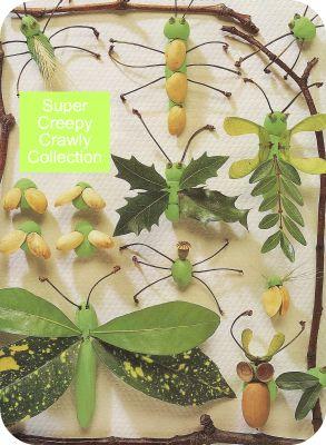 make bugs, bug craft, bugs crafts, easy crafts, easy crafts for kids, nature crafts, crafts from nature