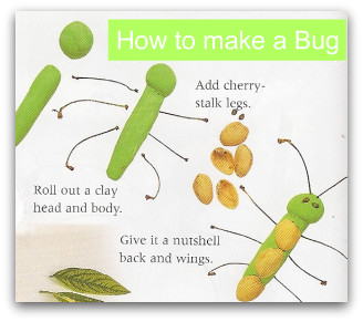 How to make bugs, bug craft, bugs crafts, easy crafts, easy crafts for kids, nature crafts, crafts from nature