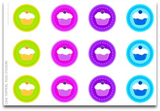 free tags, cupcake tags, free labels, free stickers, birthday tags,