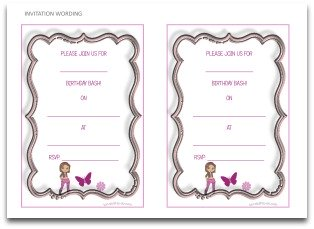 free printable invitation, invitation wording,