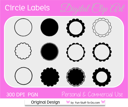 round circle label clip art