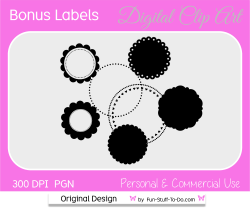 free round circle label bonus