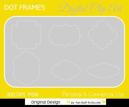 digital dot frames and labels png